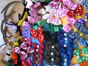 Bows, small CHF 8.-, big CHF 10.-, Headpiece CHF 10.-