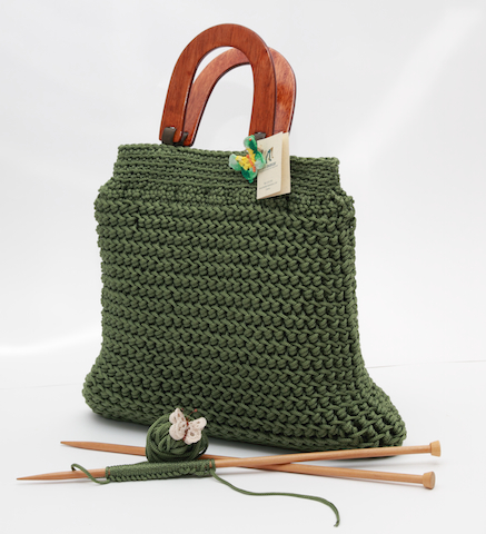 Knitting Patterns For Bags : knit bags Sandra s Closet