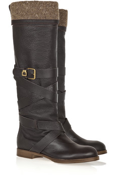 Chloé wool-lined leather boots, approximately  €850.-