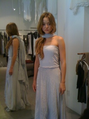 Famous model Devon Aoki in an outfit by Duuya