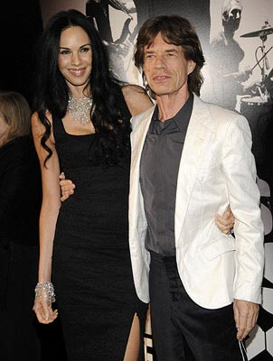 L'Wren Scott and Mick Jagger, Photo: Kevin Mazur