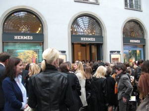 The new Hermès store in Zurich on Bahnhofstr. 28A