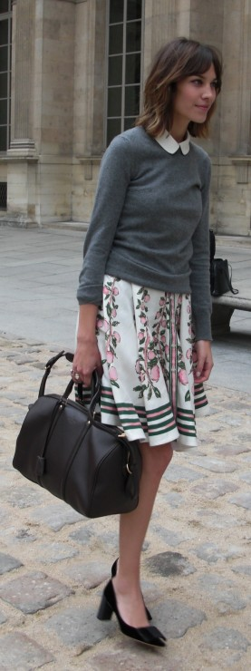 It-girl Alexa Chung in Louis Vuitton Cruise 2011