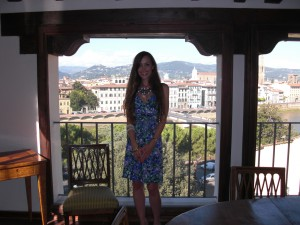 Me in front of the stunning view overlooking Florence