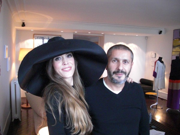 Pascal Millet with me wearing a hat from his S/S 2011 collection