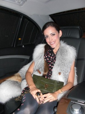 Louis Vuitton offered me a limousine for the night, me happy in the car, what a gorgeous night!