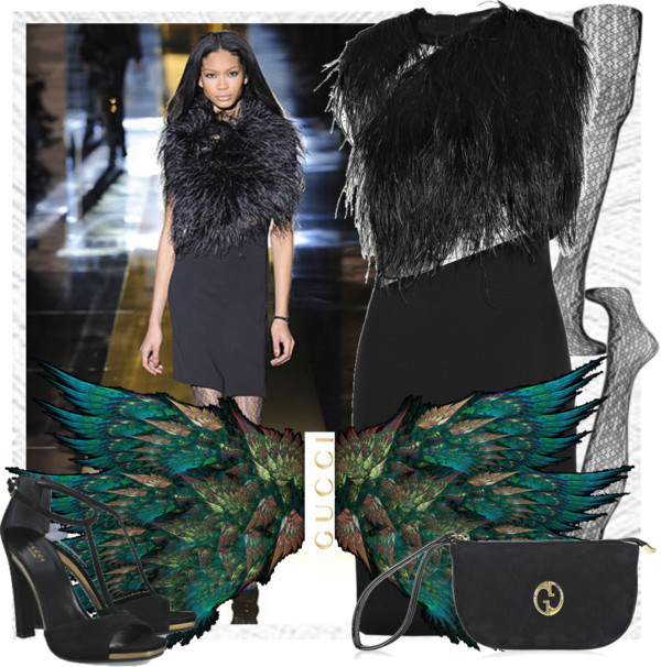Feathers Gucci