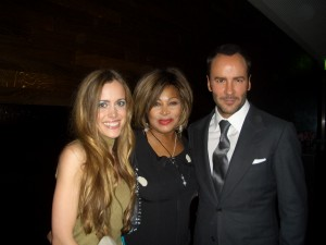 Me with Tina Turner and Tom Ford