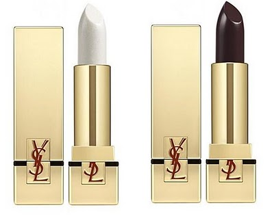 YSL Rouge Pur Couture in 12 Blanc Manifesto and 18 Noir Laque