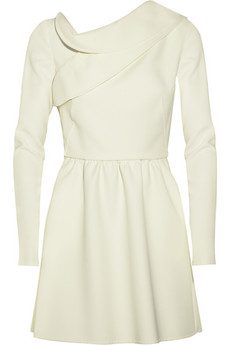 Valentino Woll-crepe mini dress