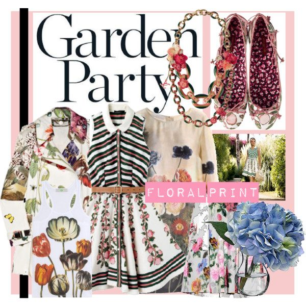 6ceeae03777c Sip cocktails at a garden party in the most beautiful floral prints.  Flower-bedecked accessories complement your sweet style perfectly.