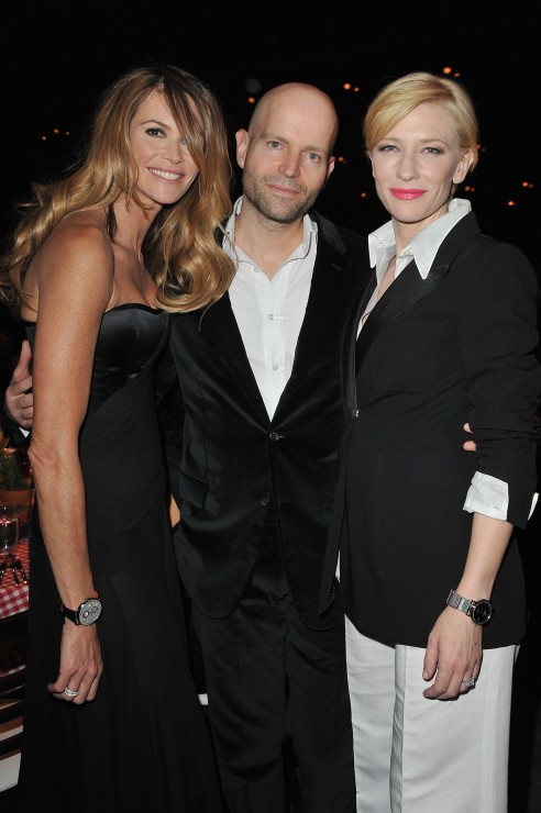 Elle Macpherson, Marc Forster and Cate Blanchett.
