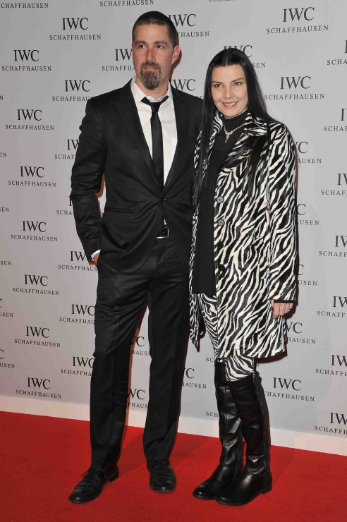 Matthew Fox with his wife Margherita Ronchi who definitely would not have won a style award.