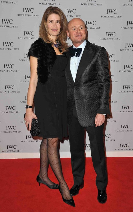 IWC CEO Georges Kern with his wife Monika who definitely deserved a style award for her dotted stockings and the kitten heels!