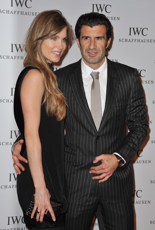 Luis Figo and his beautiful wife Helen Svedin