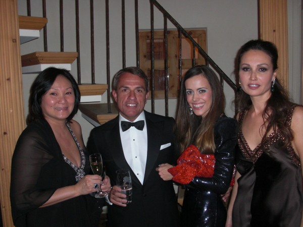 From left to right: curator Gigi Kracht, her husband hotelier Andrea Kracht, me and Inga Jacobi