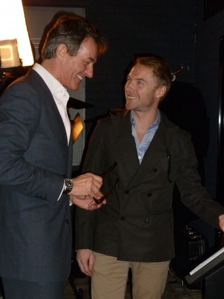 Tim Jeffries shares a laugh with Ronan Keating.
