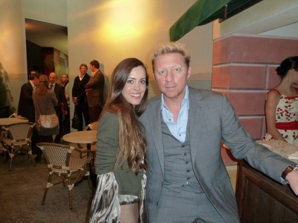 Boris Becker with me.