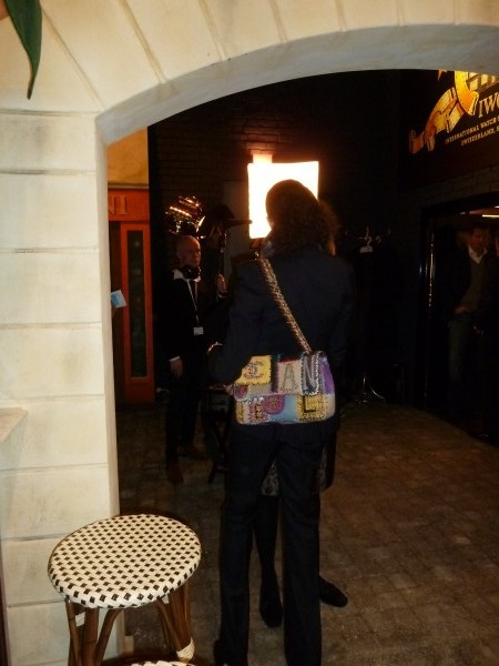 Lilly Becker with her patchwork bag by Chanel that was a gift from Boris.