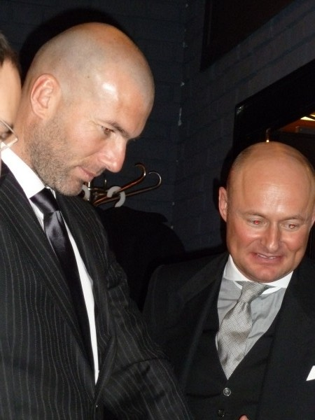 French former soccer player Zinédine Zidane with Georges Kern.