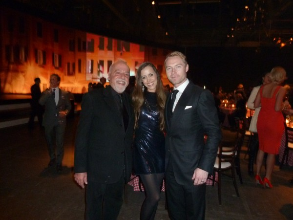 Me framed by bestselling author Paulo Coehlo and Ronan Keating.