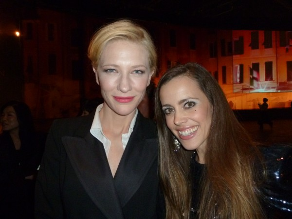 Cate Blanchett with me.