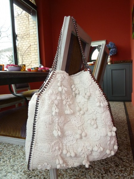 """d6f4d1d0c9a Absolutely gorgeous is Stella McCartney s """"Falabella"""" crocheted tote from  the Resort 2011 collection. This ultra-soft bag with its retro-inspired  spin is ..."""