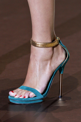 'Kelis' high heel platform sandals with ankle strap, starting at $795