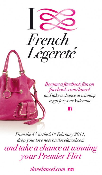 "Your chance to win Lancel's ""Anguille"" Bag"