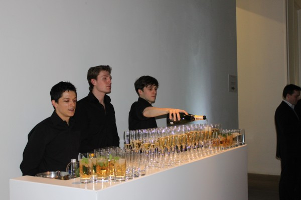 Champagne before the show, wonderful!