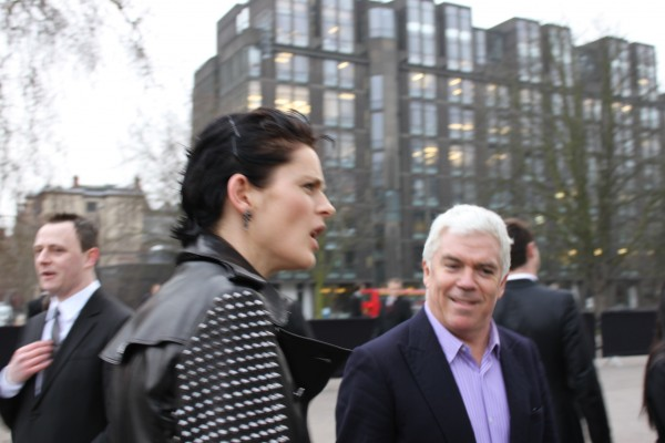 Stella Tennant in Burberry studs with Tim Blanks