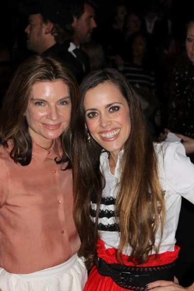 Natalie Massenet, founder of net-à-porter, with me