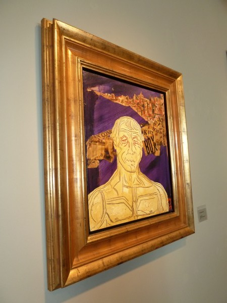 """Finding Rocky"", Mixed media and artists frame, 1975"