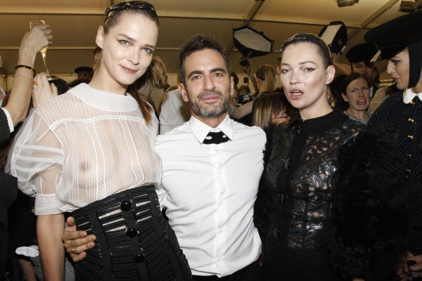 Carmen Kass, Marc Jacobs and Kate Moss