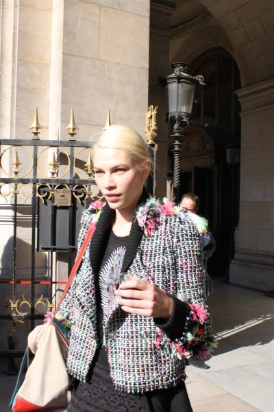 Aline Weber in a Marc Jacobs jacket