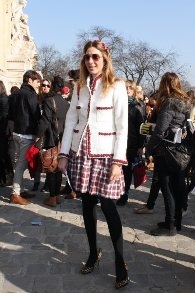 PR-Lady and Designer of her own brand Coje Yasmin Eitouni-Nannen in a gorgeous Chanel jacket...