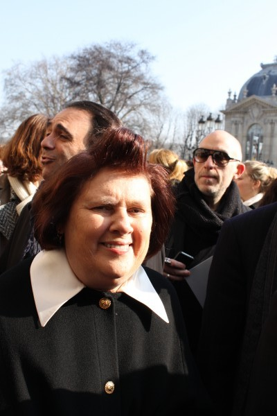 Suzy Menkes in Chanel