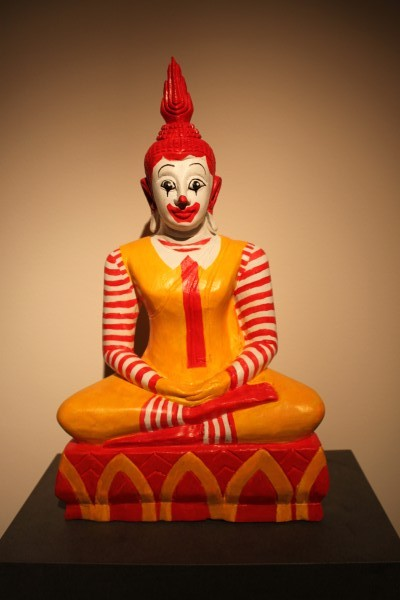 McBuddha, Acrylic on wodden sculpture, 2011