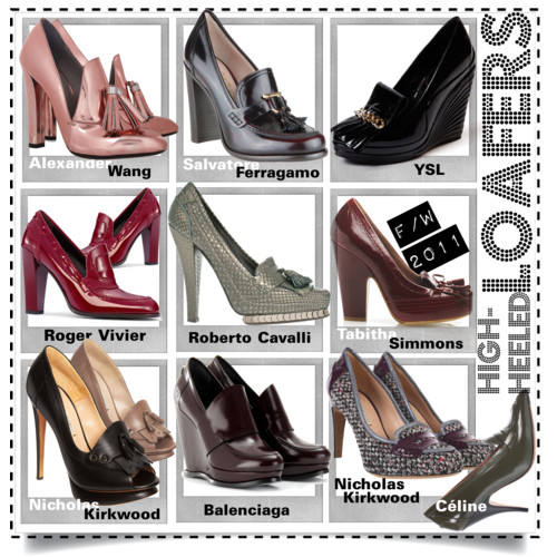 High-Heeled Loafers