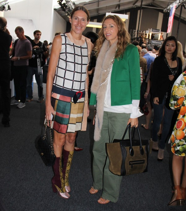 During New York Fashion Week, I ran into some very familiar faces. Here you see German fashion power. To the left is über-stylish Annette Weber, ...
