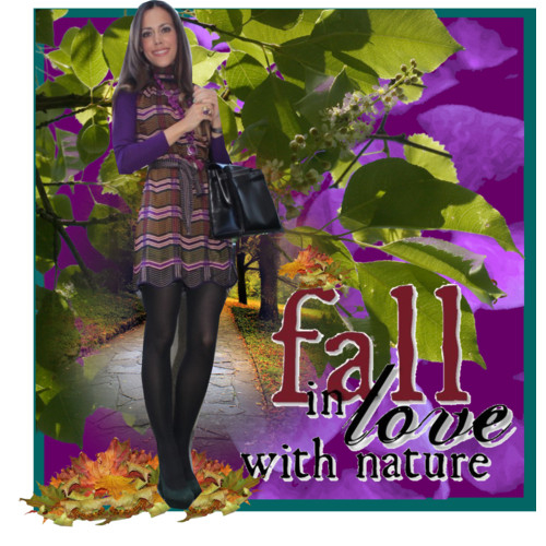 Fall Colours- Purple & Green