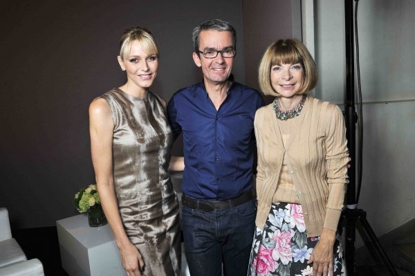 KPrincess Charlene, Albert Kriemler, Anna Wintour at Akris SS2012