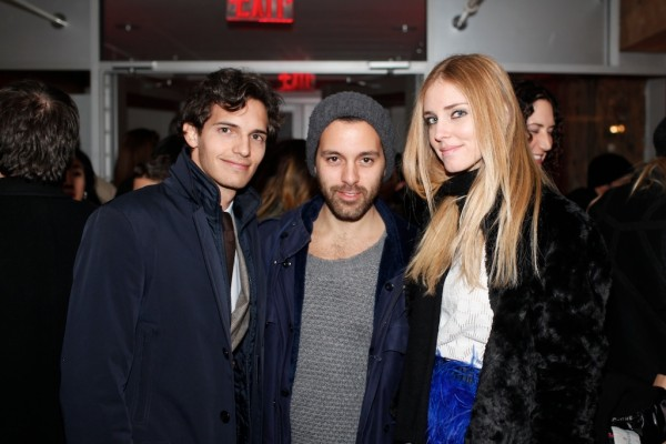 Riccardo Pozzoli, Angelo Tropea, and Chiara Ferragni of the Blonde Salad
