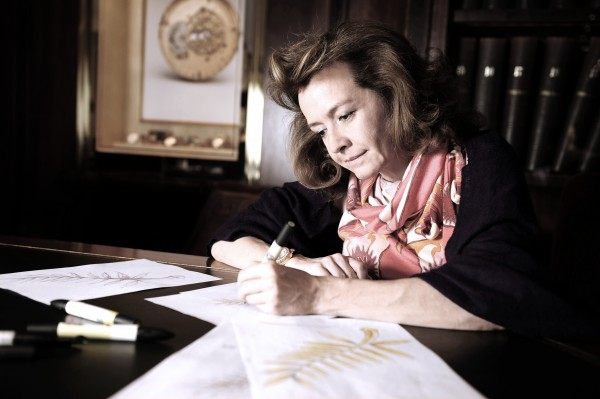 0 Palme d'Or Caroline Scheufele drawing the Palme