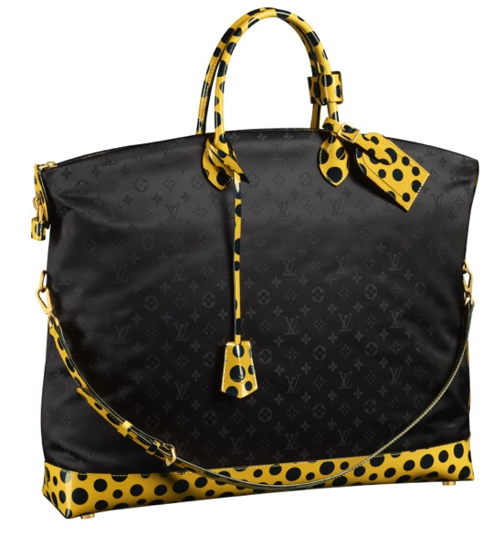 Yayoi-Kusama-Louis-Vuitton-Lockit-GM-Monogram-Nylon-Dots-Infinity-yellow