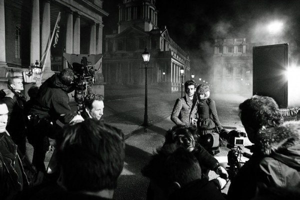 roo panes and gabriella wilde behind the scenes at the burberry autumn winter 2012 ad campaign