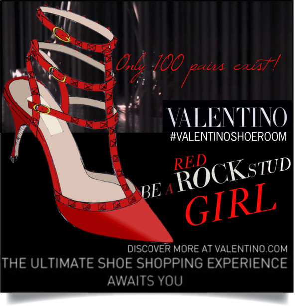 Valentino Shoe room