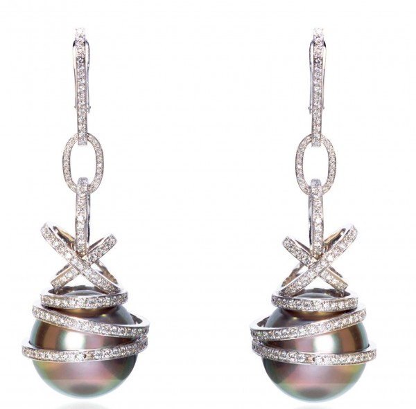 Chopard Grey Pearls Earrings