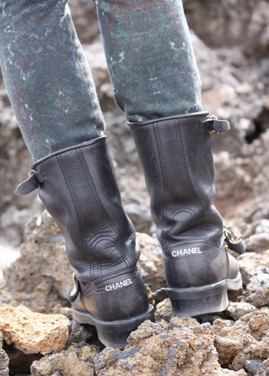 Biker Boots Chanel Iceland Hiking