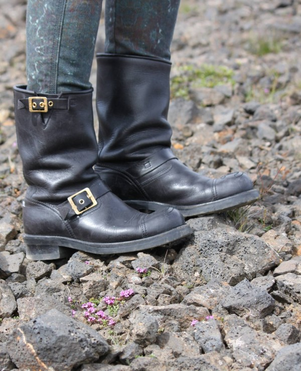 Chanel Biker Boots - Hiking Iceland